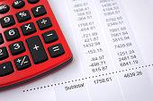 Analyzing and balancing account data.
