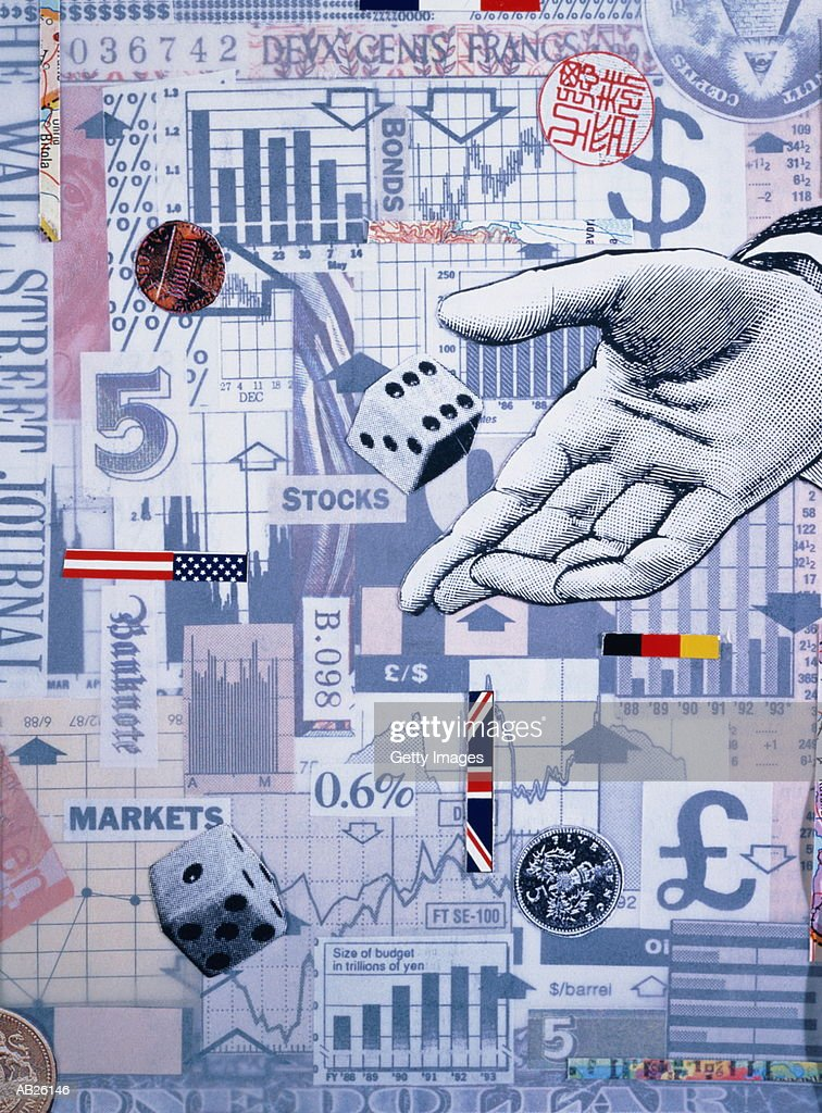 Financial dice (Montage) : Stock Photo