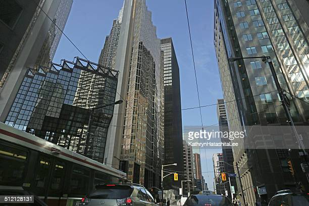 Financial District Buildings at Bay Street and Wellington, Toronto, Ontario