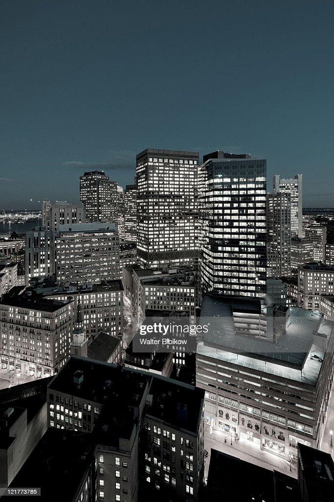 Financial District Buildings, Boston, Massachusetts, USA : Stock Photo
