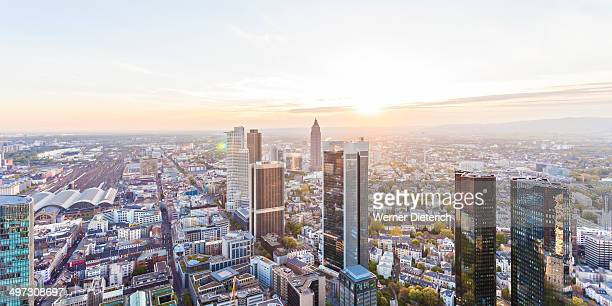 Financial district, cityscape of Frankfurt