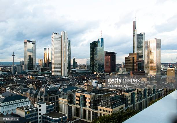 Financial district, Frankfurt am Main, Hesse, Germany, Europe