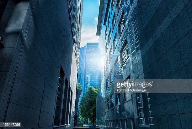 Financial District, Frankfurt, Deutschland.