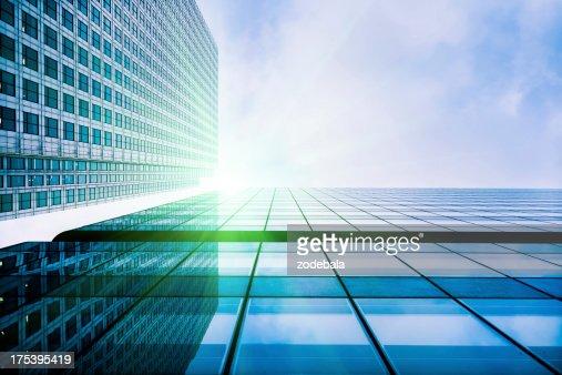 Finanzviertel Glas-Gebäude, London