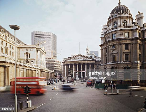 Financial district in London, England