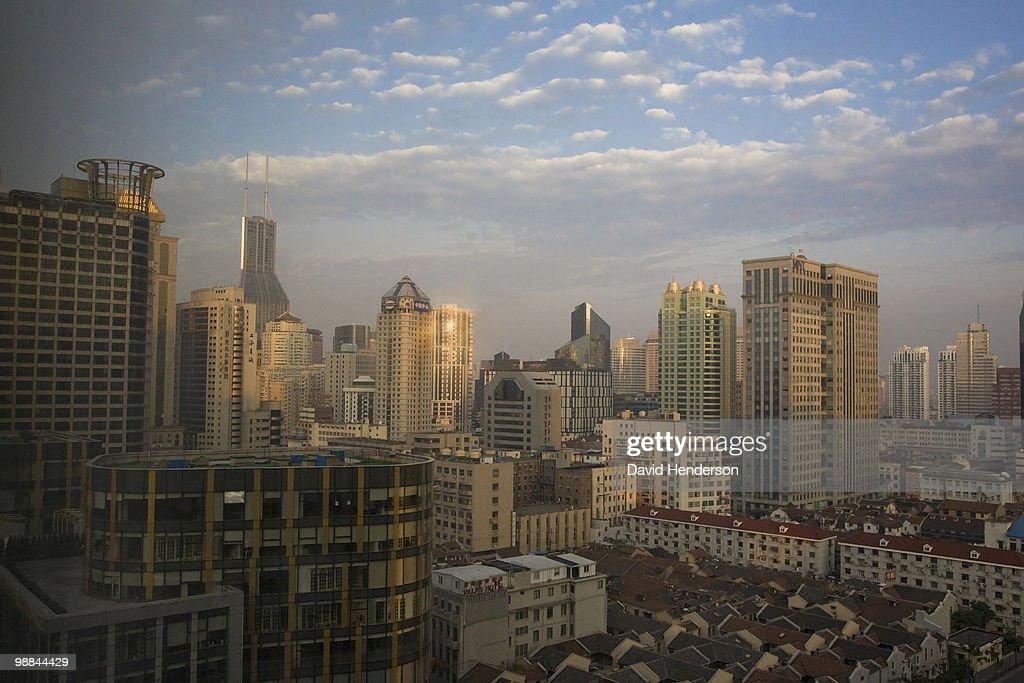 Financial district, Shanghai, China : Stock Photo