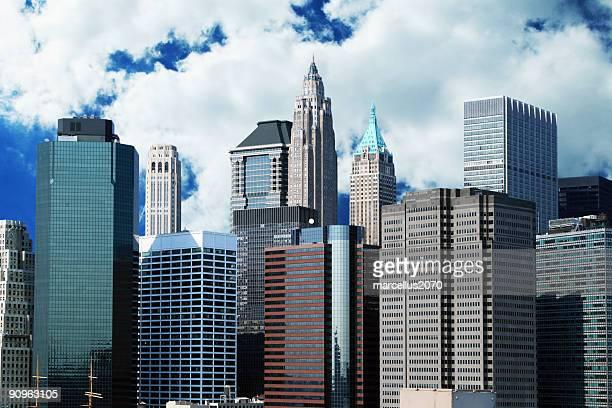 Quartiere finanziario dello skyline