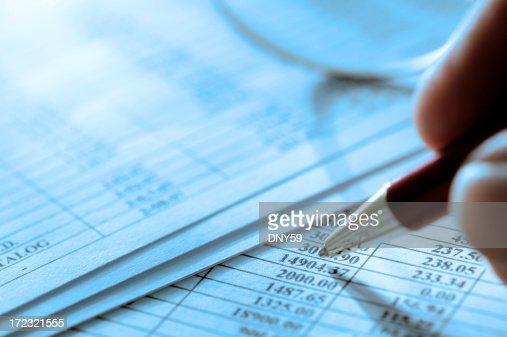 Financial Figures Close Up