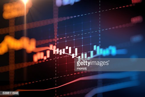 financial graph on technology abstract background : Stock Photo