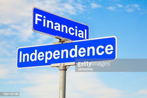 Financial Independence Intersection Street Sign