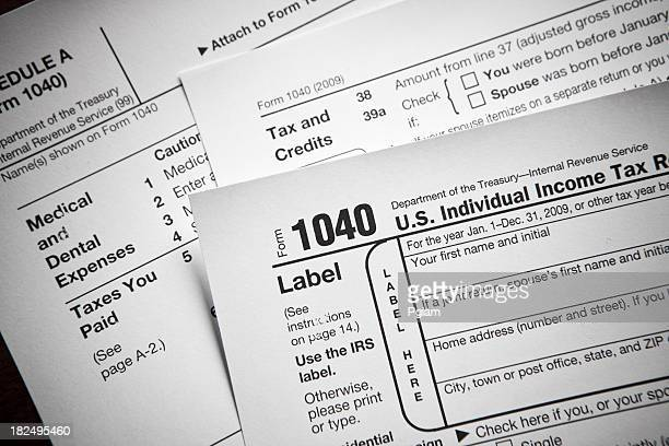 1040 Tax Form Stock Photos And Pictures | Getty Images