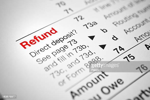 Finanzielle IRS-Steuererklärung Formulare