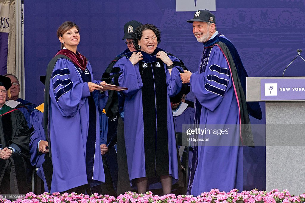 response speech of sotomayors 2012 nyu Supreme court justice sonia sotomayor gave graduating nyu justice sonia sotomayor sings sonia from the block's commencement speech was.