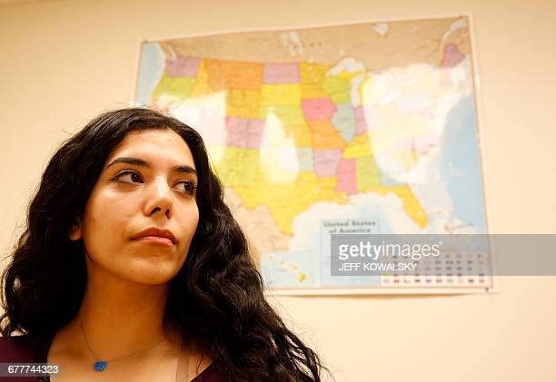 Financial Literacy teacher Ronda Smiley poses at thr US Together association which works with Syrian refugees on October 18 in Toledo Ohio / AFP /...