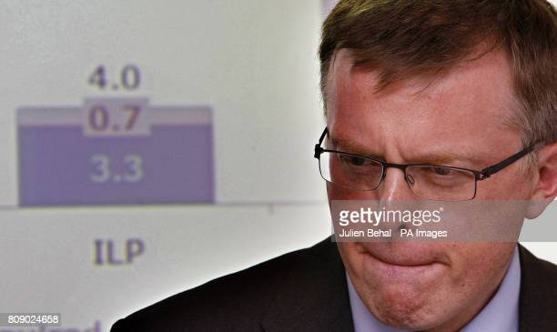 Financial Regulator Matthew Elderfield speaks during a press conference in the Central Bank in Dublin where he and Governor of The Central Bank...