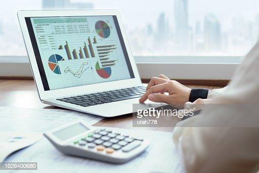 financial spreadsheet report : Stock Photo