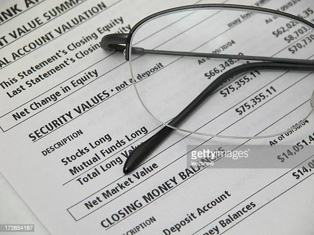 Financial Statement and Glasses
