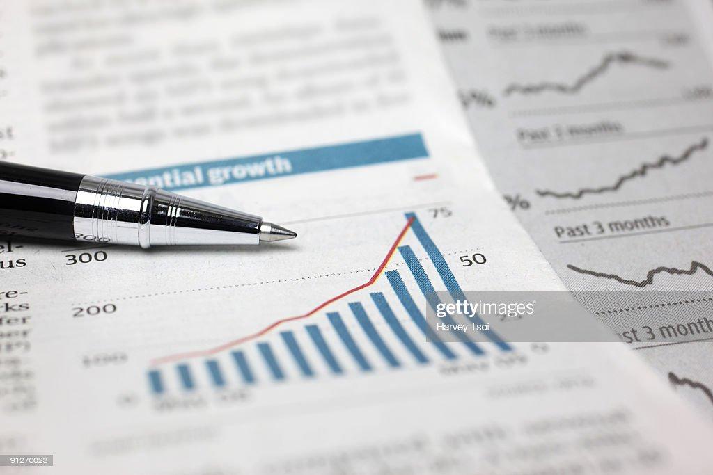 Financial Stock Chart : Stock Photo