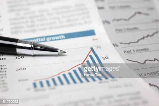 Financial Stock Chart : Stock Photo