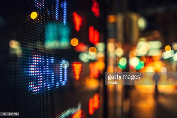 finanzielle Börse Zahlen