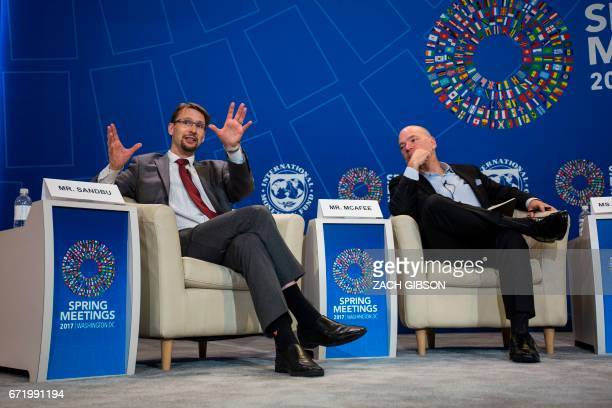 Financial Times Economic Writer Martin Sandbu speaks during a panel discussion on the effects of digitalization and technology on fiscal policy and...