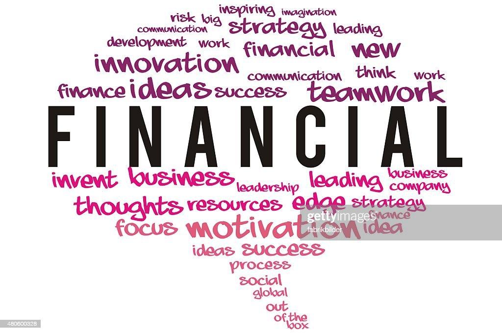 Financial  wordcloud concept : Stock Photo