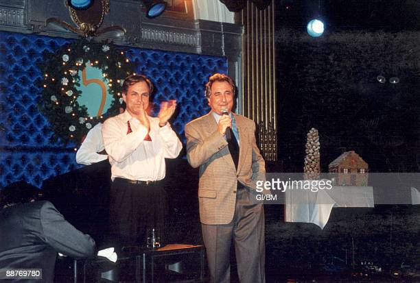 ACCESS*** Financier Bernard Madoff and brother Peter Madoff attend a holiday party at The Five Spot during December 1993 in New York City