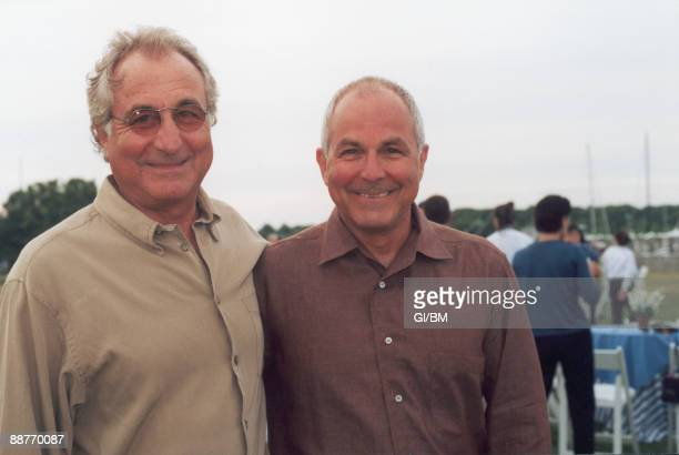 ACCESS*** Financier Bernard Madoff and his brother Peter Madoff during July 2002 in Montauk NY