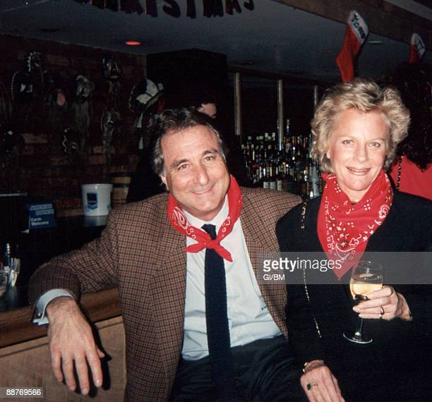 ACCESS*** Financier Bernard Madoff and his wife Ruth Madoff attend a holiday party at Cheyenne Social Club during December 1990 in New York City