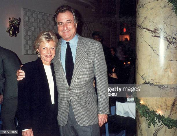 ACCESS*** Financier Bernard Madoff and his wife Ruth Madoff attend a holiday party at The Five Spot during December 1993 in New York City