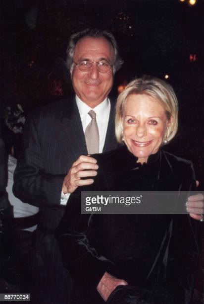 ACCESS*** Financier Bernard Madoff and his wife Ruth Madoff attend a holiday party during December 2000 in New York City