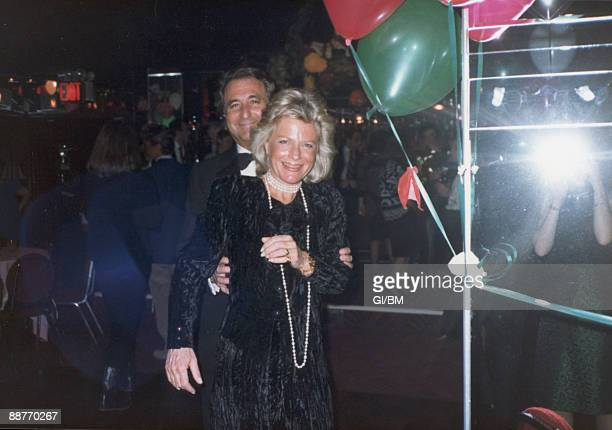 ACCESS*** Financier Bernard Madoff and his wife Ruth Madoff attend a holiday party at The Copacabana during December 1986 in New York City
