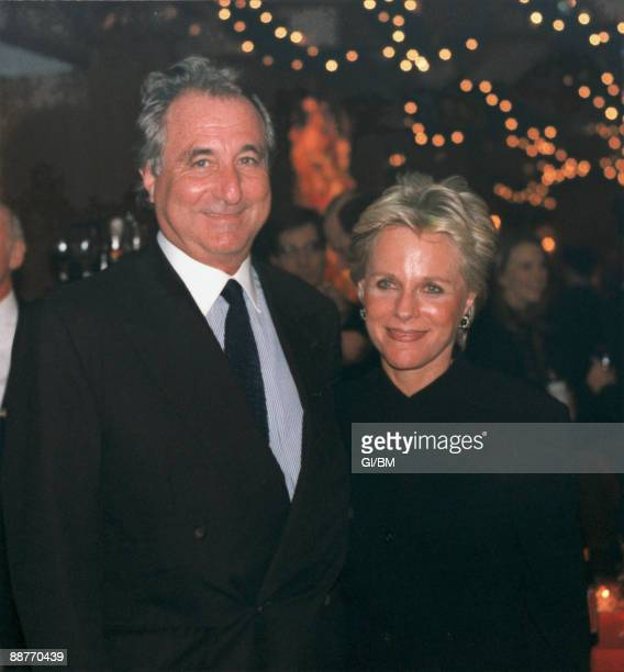 ACCESS*** Financier Bernard Madoff and his wife Ruth Madoff attend a holiday party at Tavern on the Green during December 1995 in New York City
