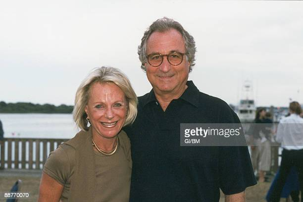 ACCESS*** Financier Bernard Madoff and his wife Ruth Madoff during July 1999 in Montauk NY