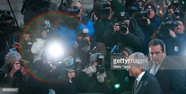 Financier Bernard Madoff enters Manhattan Federal court on March 12 2009 in New York City Madoff is expected to plead guilty to all 11 felony charges...