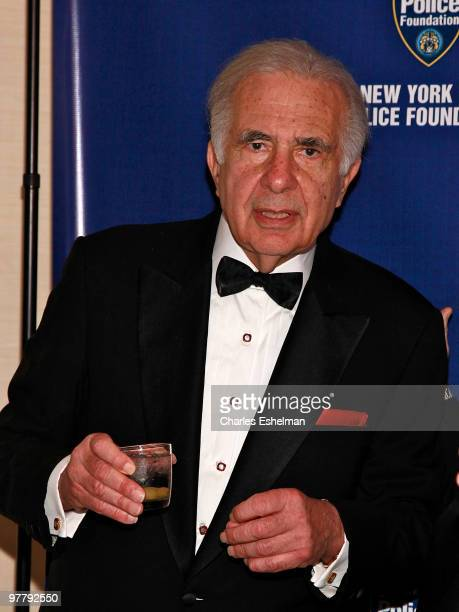 Financier Carl Icahn attends the 32nd Annual New York City Police Foundation Gala at The Waldorf Astoria on March 16 2010 in New York City