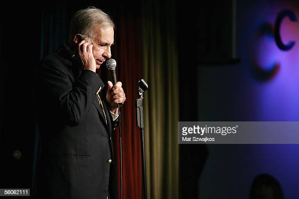 Financier Carl Icahn is seen on stage at 'David Moore's Funny Business Show' at Caroline's on Broadway on November 2 2005 in New York City