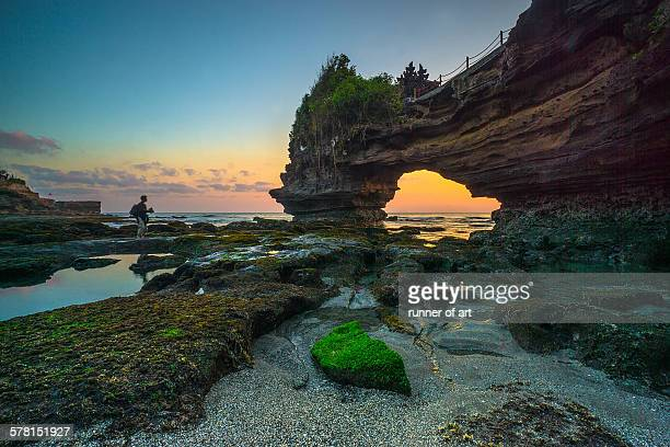 Find the perfect sunset at Batu Bolong, Tanah Lot