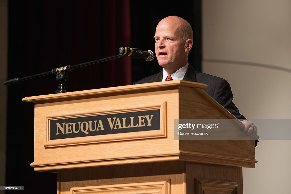Fine arts department chair Charles Staley attends the GRAMMY Signature School Presentation. Neuqua Valley High School was honored as a National GRAMMY Signature School and received an award of $10,000 at Neuqua Valley High School on May 7, 2013 in Naperville, Illinois.
