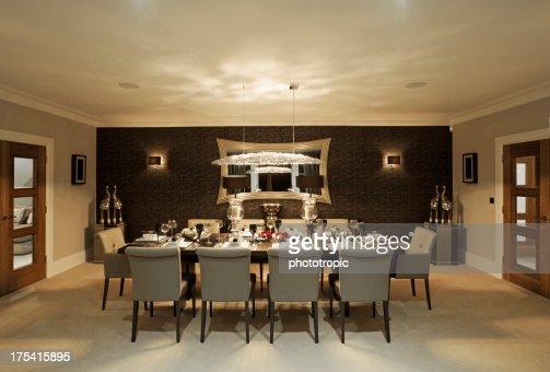 fine dining room at night