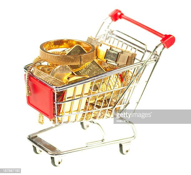 fine gold in shopping cart