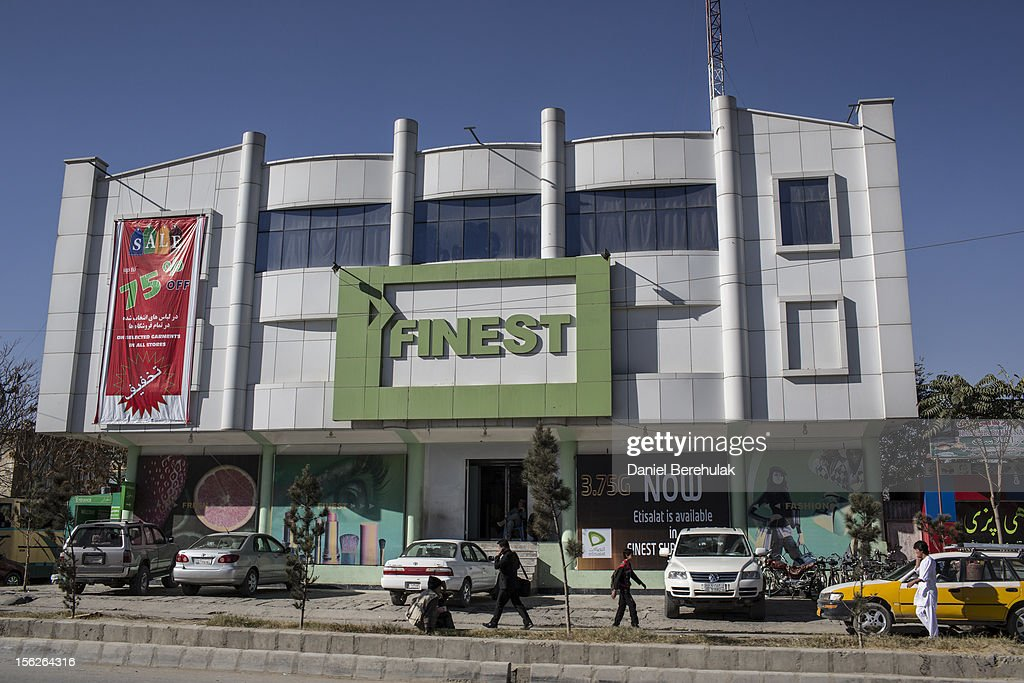 A FInest supermarket store on November 11, 2012 in Kabul, Afghanistan.