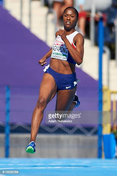 Finette Agyapong from Great Britain competes in women's 200m semifinal during Day 3 of European Athletics U23 Championships 2017 at Zawisza Stadium...