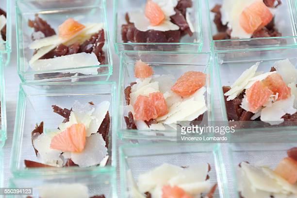 Finger Food: Bresaola, Parmesan and  Pink Grapefru