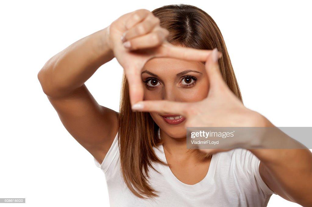 finger frame : Stock Photo