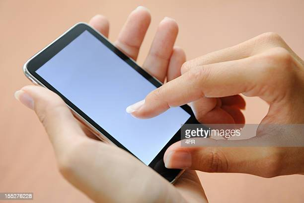 Finger pointing on a Smart Phone (XXXL)