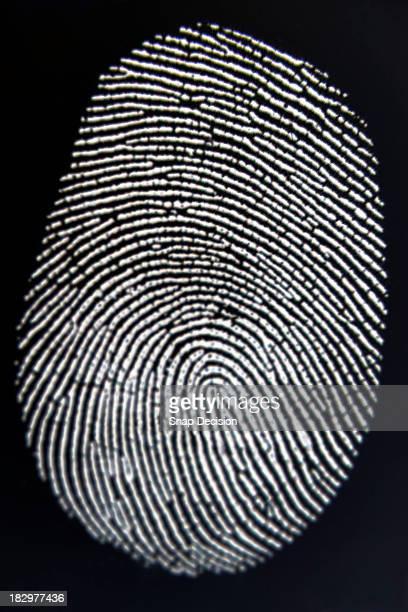 Finger print on surface