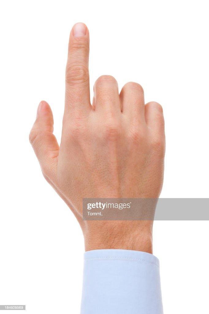 Finger Touching Virtual Screen