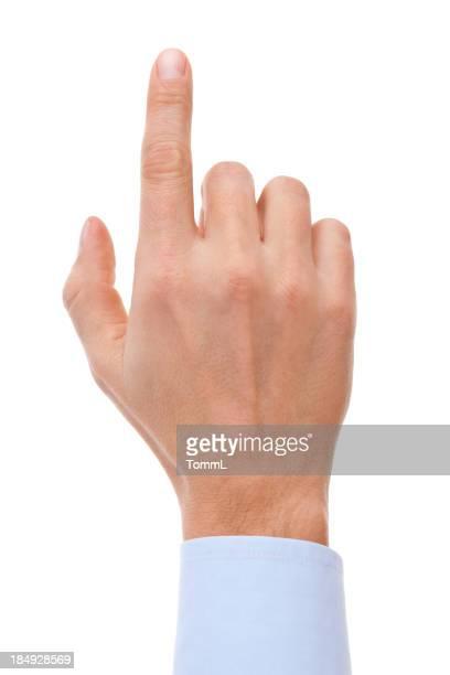 Finger berühren virtuelle Bildschirm