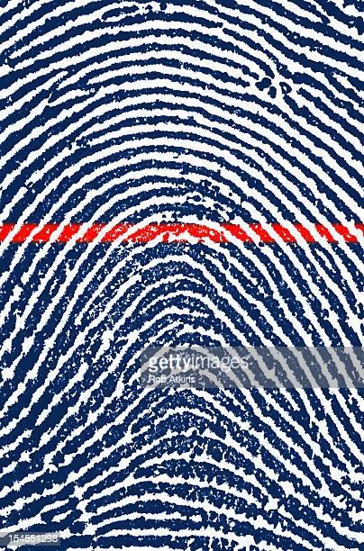 Fingerprint being laser scanned